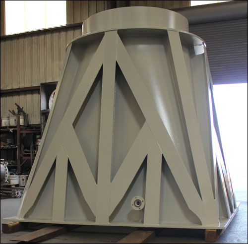 "42"" Dia. Transition Piece Designed for a Water Tower in Texas"