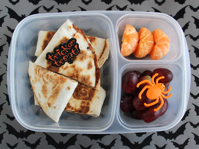 Preschool Halloween Quesadilla Bento #525