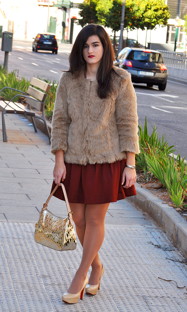 faux fur yeti zara coat, fashion blogger from spain, something fashion
