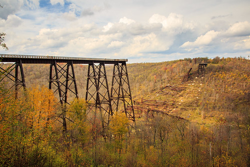 railroad bridge autumn storm fall landscape day pennsylvania destruction pa tornado kinzuabridge