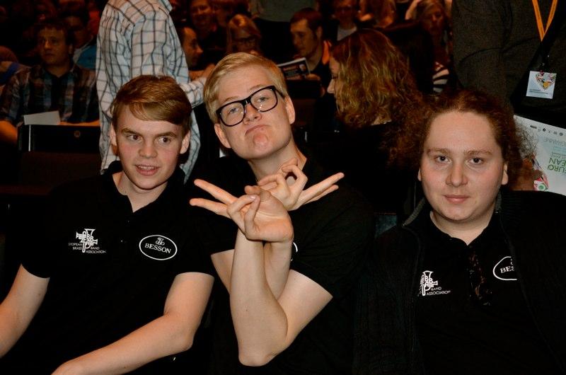 EM 2013 - Svenska EYBB:are - Daniel Björnell, Johannes Forsberg och Eli Hellsten (foto: Olof Forsberg)