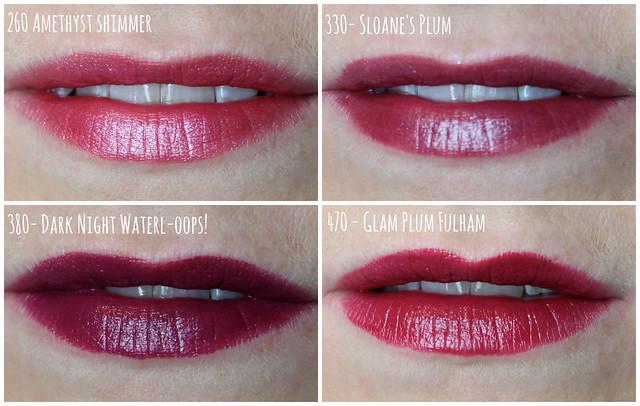 rimmel moisture renew lipstick swatches