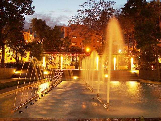 Fountain at Night, Parque Garcia Sanabria, Santa Cruz, Tenerife