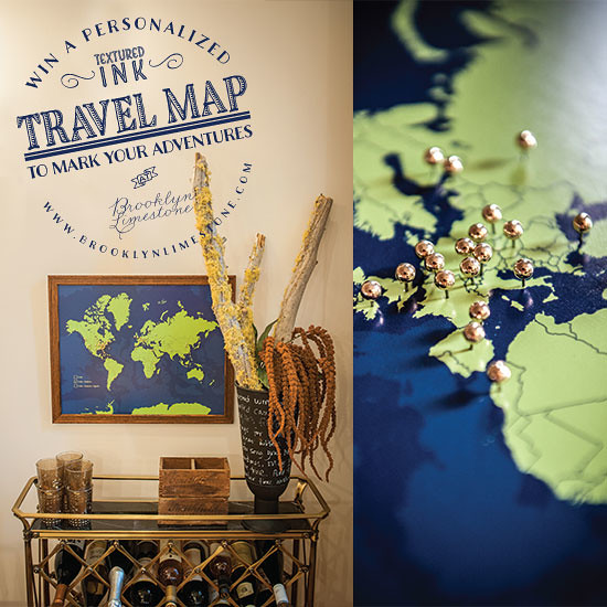 Brooklyn Limestone Giveaway Personalized Travel Map – Personalized Travel Maps