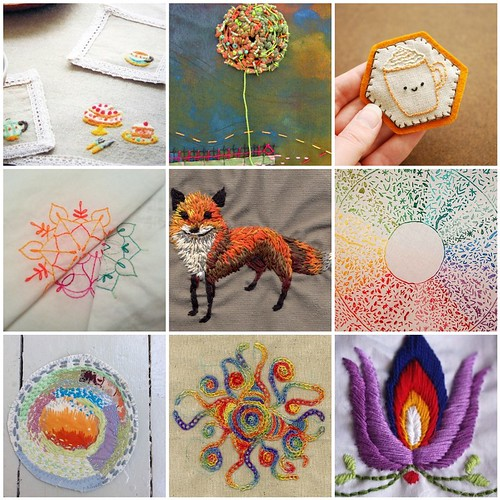 Friday Funspiration:  Colorful stitches