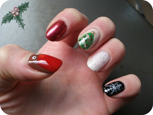 Christmas Mix and match nail art