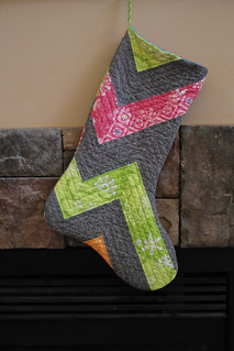 winterkist patchwork quilted stocking