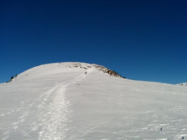 Flache Passage, Gipfel Sambock in Sicht