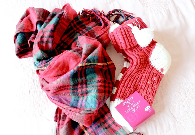 Tartan Scarf and Cosy Socks