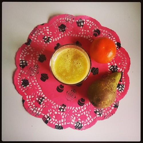 ♣ #smoothie du jour ♣ #kiwi #litchi #poire #clementine #ourlittlefamily #france