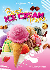 Ice Cream Menu Front