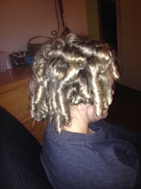 Talk about getting shirley temple curls!
