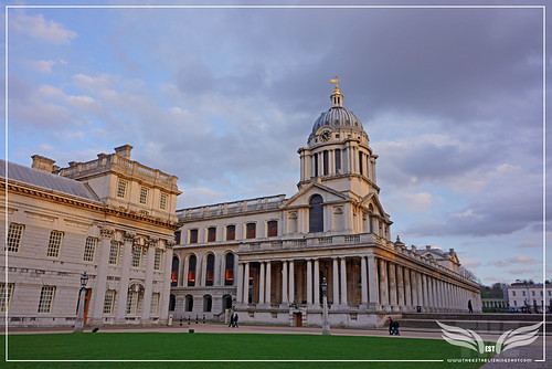 The Establishing Shot: THOR: THE DARK WORLD BATTLE OF GREENWICH FILM LOCATION - THE CHAPEL TOWER FROM LOWER GRAND SQUARE, THE OLD ROYAL NAVAL COLLEGE (ORNC) GREENWICH, LONDON by Craig Grobler