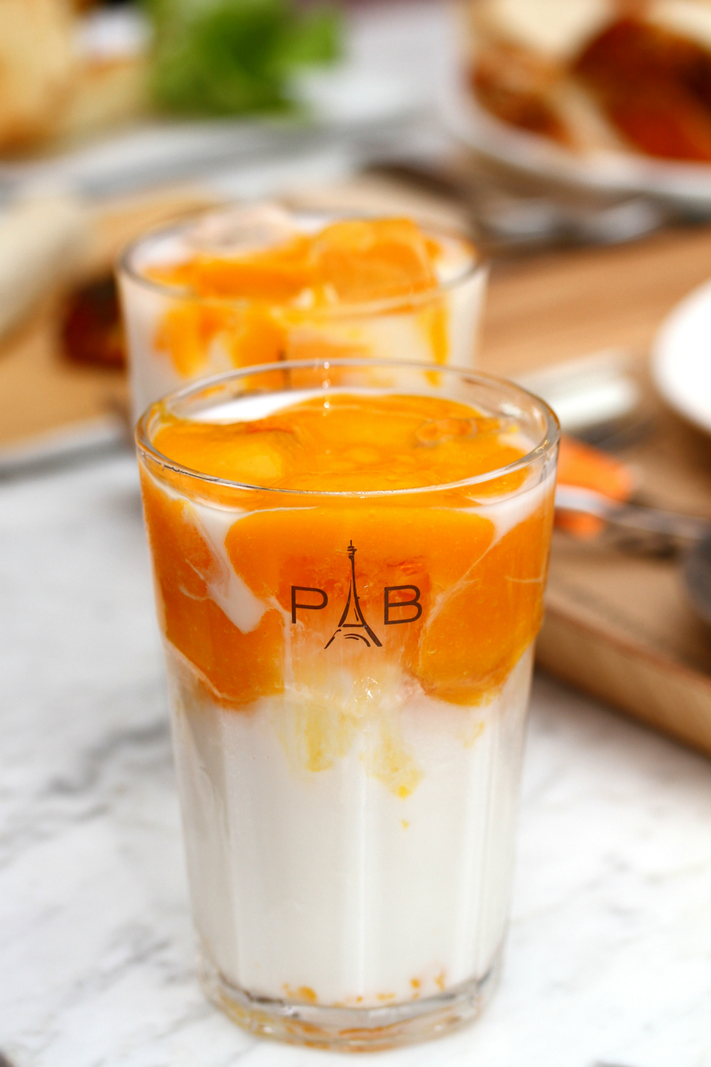 Paris Baguette Cafe's Mango Latte