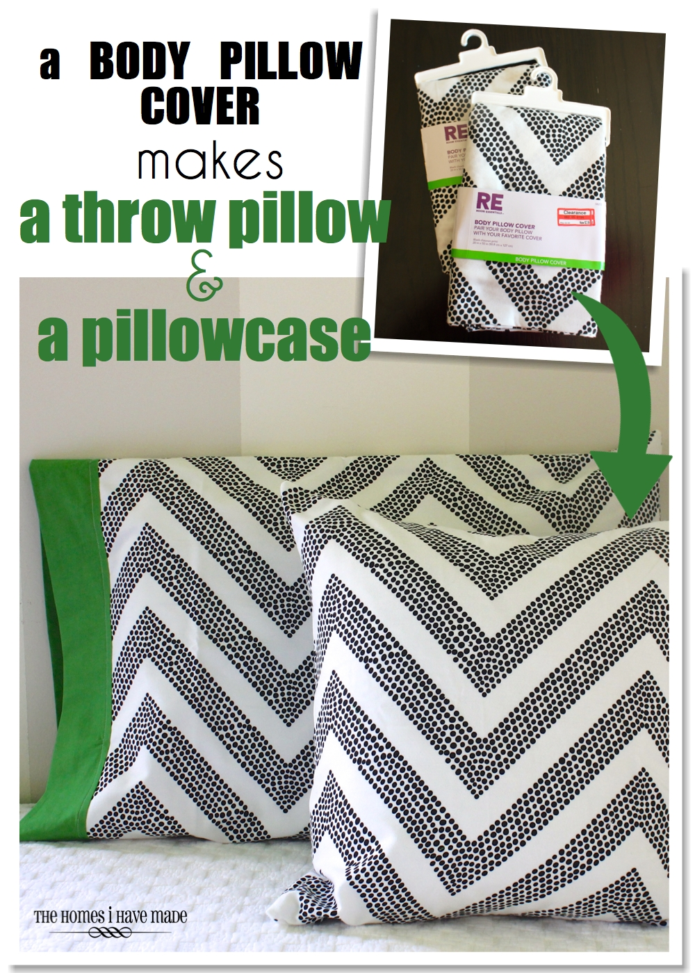 How To Make A Pillowcase From A Body Pillow The Homes I