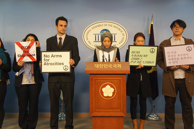 20140319_기자회견_총단법개정및 최루탄수출에 인권기준 도입촉구 (20)