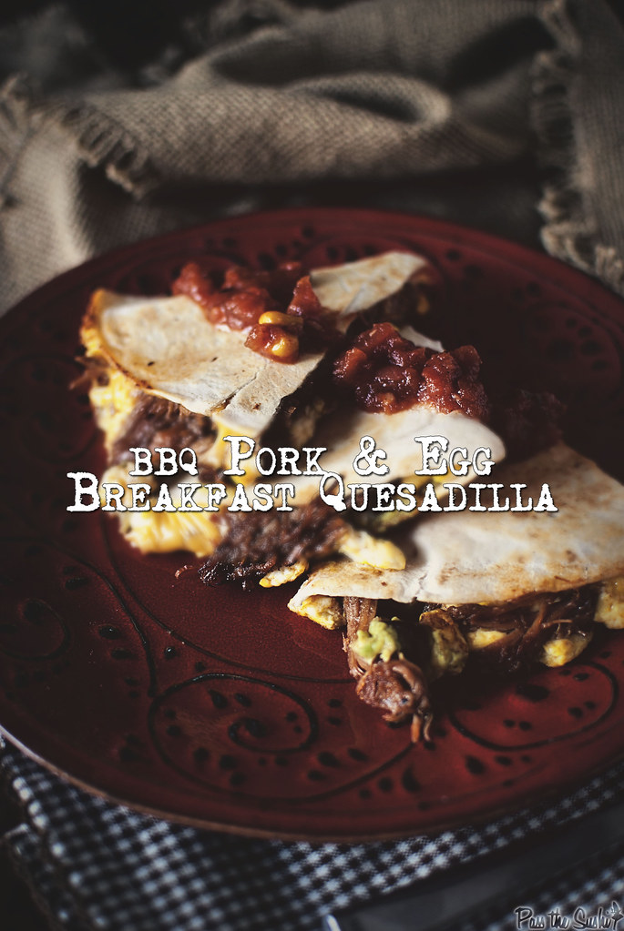 BBQ Pork Breakfast Quesadilla // Girlcarnivore.com