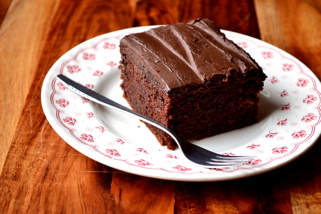 Apricot Chocolate Fudge Cake Recipe
