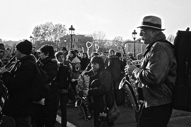 Street musicians in Roma