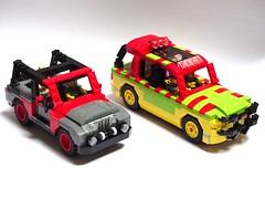Ford Explorer Jurassic Park & Jeep Wrangler Sahara 1992