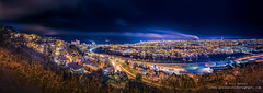 A beautiful winter  panorama from Trondheim