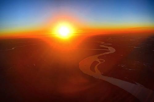 Atardecer sobre el río Paraná  #nofilter #sunset #atardecer #RioParana #Zarate #NikonD3300 #D3300 #Nikonista