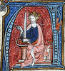 Conrad I the Younger, King of East Francia, from Spieghel Historiael of Jacob van Maerlant, c. 1330