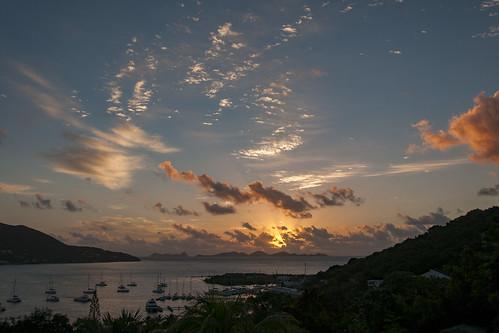 nikon d300s photoshop nikkor 18105mmf3556 outside outdoor nikon18105mmf3556 travel bvi britishvirginislands caribbean westindies sea sunrise dawn landscape sun sky clouds island