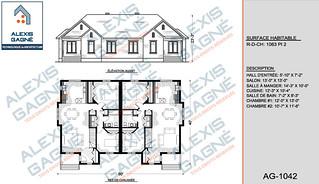 Plan de maison jumelé - MJ.06