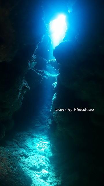 洞窟の光キレイだった!!!