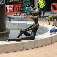 The body that was dumped near the office a few weeks ago is finally unwrapped and revealed as... a naked statue