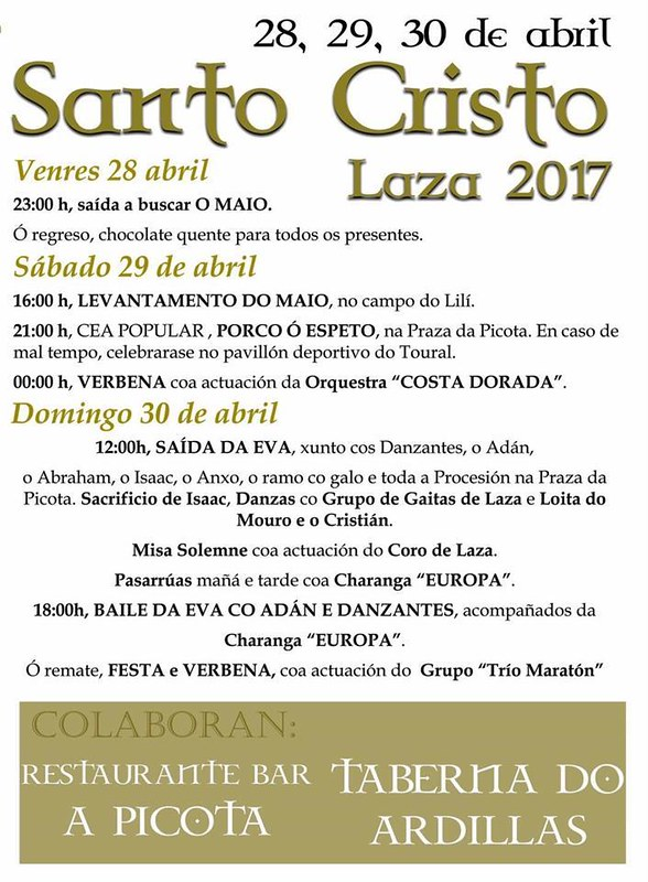 Laza 2017 - Festas do Santo Cristo - programa