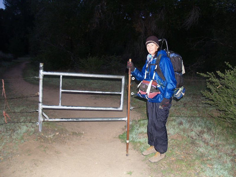PCT trailhead at dawn, heading south from Highway S22