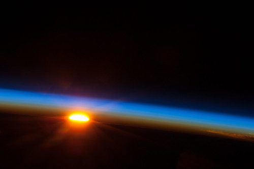 Sunrise Over the Pacific Ocean (NASA, International Space Station, 05/05/13)