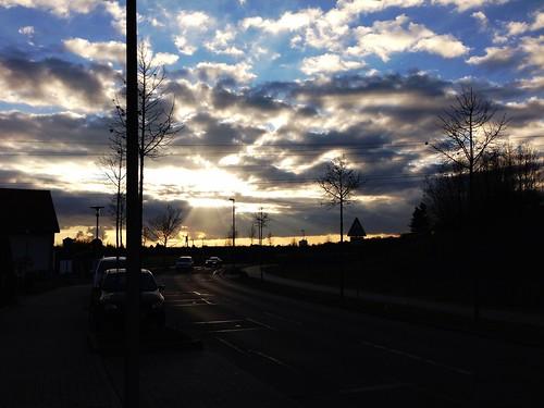 Sunset in Raumheim, Germany