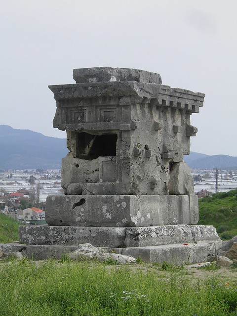 House-type tomb northeast of the Roman theatre, Xanthos, Lycia, Turkey