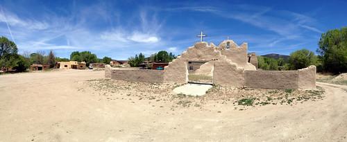 new panorama usa mountains southwest church architecture mexico san indian pueblo adobe lorenzo cristo sangre reservation picuris