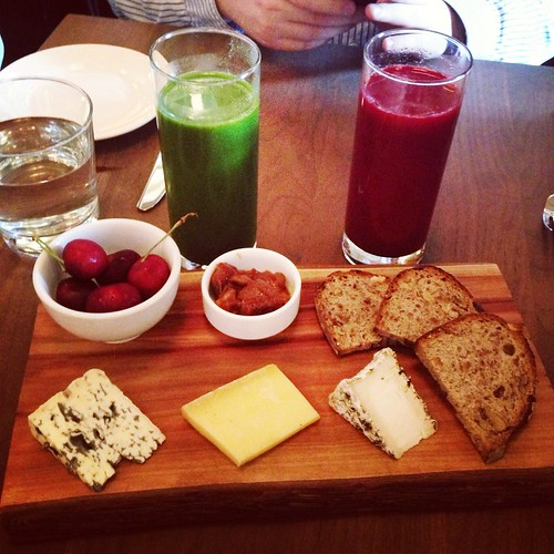 Our cheese board and juices