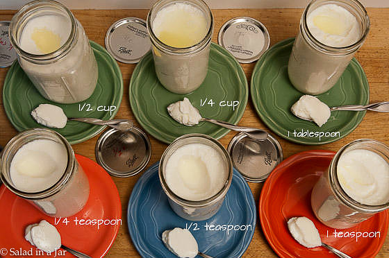 How Much Starter Do You Really Need To Make Yogurt? comparison of various amounts