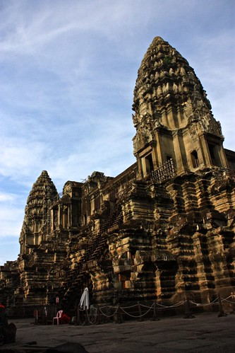 the center towers of Angkor Wat