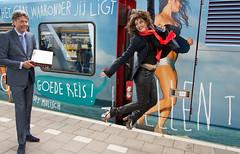 Ellen ten Damme trein Arnhem in de lucht