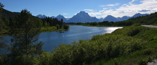 Tetons from Oxbow Bend on the Snake River