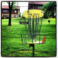 @GrandVuePark  Cabin rentals on #DiscGolf Course #6YellowCourse