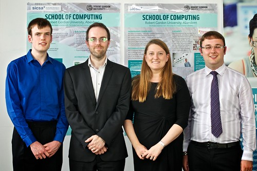 Eddie Shearer and Andrew Watt awarded the Codify Prize, presented by Graeme Humphrey and Katherine Rutherford
