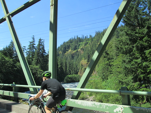 Kevin, bridge, Clackamas River