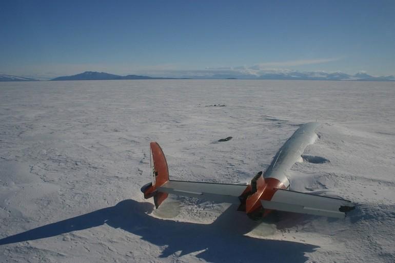 Pegasus abandonado Antártida