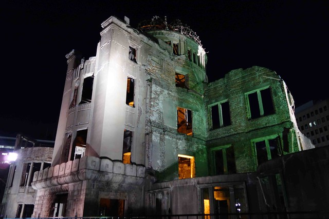 A-Bomb Dome at night