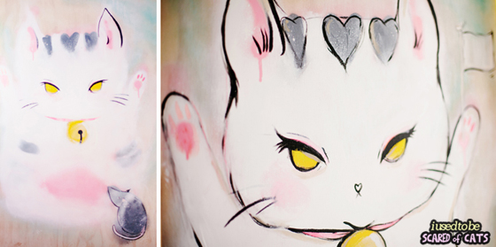 Cat Painting - detail