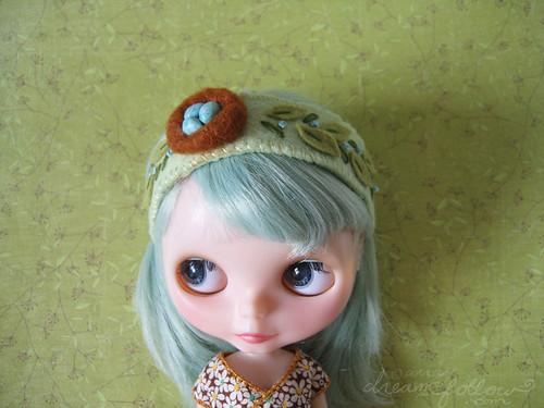 leafy nest headband