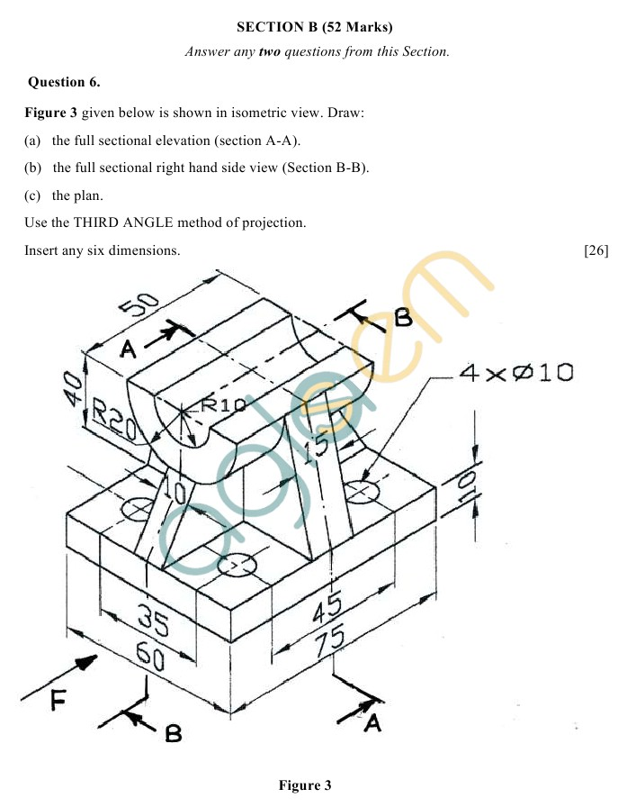 Icse Class 10 Sample Paper 2019 2018 2017 Technical Drawing